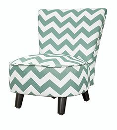 Kids' Armchairs - Heritage Kids Toddler Slipper Chair Chevron Teal ** Details can be found by clicking on the image.