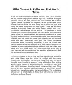 Just uploaded MMA Classes in Keller and Fort Worth Texas http://www.scribd.com/doc/128686741/MMA-Classes-in-Keller-and-Fort-Worth-Texas via @Scribd