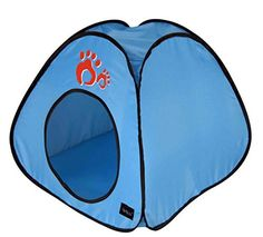 Crazystones Pet Summer Outdoor Indoor Popup Foldable and Portable Tent Blue Medium >>> Read more  at the image link. (This is an Amazon affiliate link and I receive a commission for the sales and I receive a commission for the sales)