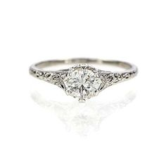Leigh Jay Nacht Inc. - Replica Art Nouveau Engagement Ring - 3253-03
