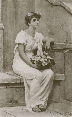 Alfred Seifert - Munsey's Magazine Vicars, Pre Raphaelite, Vintage Pictures, Romantic, Magazine, Statue, Paintings, Portraits, Art