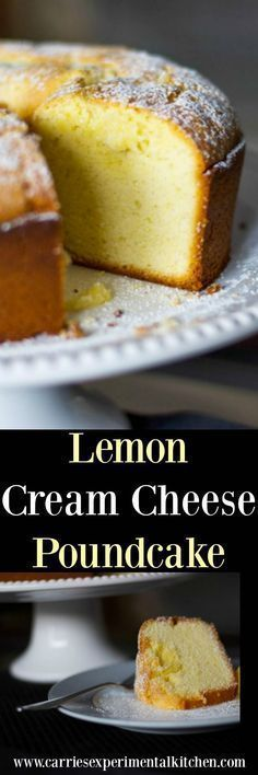 Lemon Cream Cheese Poundcake is deliciously moist cake that goes perfectly with�