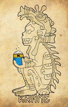 God of death by Krane Crane, Photomontage, Bones, Death, Skull, Sugar, God, Character, Frames Ideas