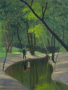 Felix Vallotton ( Oil on canvas, 60.5 x 45.5 cm, Private collection ).