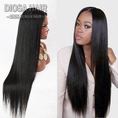Lace Front Human Hair Wigs for black Women Glueless full lace human hair wigs Malaysian straight human hair U part wigs,straight,Lace front wigs Real Hair Wigs, 100 Human Hair Wigs, Frontal Hairstyles, Wig Hairstyles, Black Hairstyles, Hairstyle Ideas, Hair Ideas, Straight Weave Hairstyles, Straight Wigs