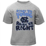 North Carolina Tar Heels (UNC) Infant Start 'Em Young T-Shirt - Ash