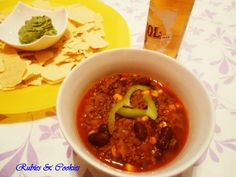 Chili con carne. The recipe in our website.