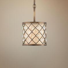 Jeweled Golden Bronze Mini Pendant Light -