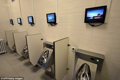 Luxurious: China's capital city Beijing has unveiled its next-generation super high-tech public toilets (pictured)