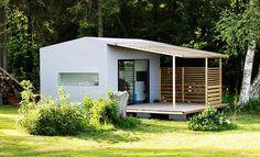 Dieses Mini Haus ist ein modernes vorgefertigtes System