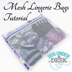 Link to this tutorial is broken. Mesh Lingerie Bags Tutorial Excellent site for tutorials, interfacing tips, pattern tips, etc Sewing Hacks, Sewing Tutorials, Sewing Projects, Sewing Crafts, Fabric Bags, Mesh Fabric, Sew Bags, Mesh Laundry Bags, Diy Couture