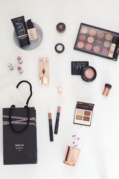 My Favourite High-End Brands #makeup #flatlay #mac #nars #charlottetilbury
