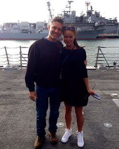 Production assistant Trini with producer Stephen Kane #thelastship