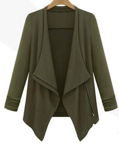 Casual Lapel Long Sleeves Irregular Plus Size Short Coat