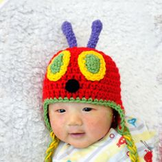 Very Hungry Caterpillar Hat Crochet Baby Hat by stylishbabyhats, $22.99