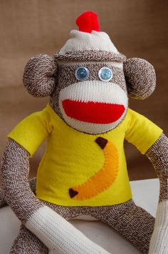 Sock Monkey - Banana Joe
