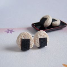 Hey, I found this really awesome Etsy listing at https://www.etsy.com/uk/listing/236452922/onigiri-earrings-japanese-rice-ball-stud