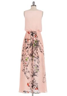 Strawberry Festival Queen Dress. Celebrate the harvest in majestic style in this pastel pink maxi dress by Lavand! #pink #modcloth