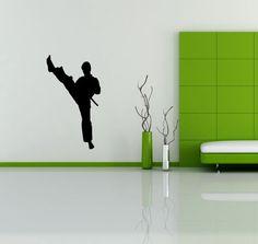 JUDO KARATE FIGHTING SPORT NINJA  WALL VINYL STICKER  DECALS  ART MURAL D548 #MuralArtDecals