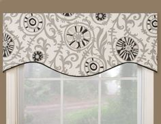 Amazon.com: Victor Mill Soho Shaped Valance: Home & Kitchen