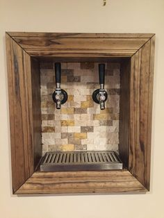 Wall Mount Beer Taps - The wall mount is the more convenient approach to display Plasma and LCD television sets. Beer Cellar, Keg Tap, Tiny House Company, Wall Taps, Modern Basement, Man Cave Bar, Beer Taps, Tasting Room, Basement Remodeling
