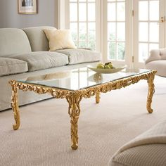 Baroque Coffee Table Hand Carved Free Shipping
