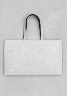 & Other Stories   Structured Leather Tote
