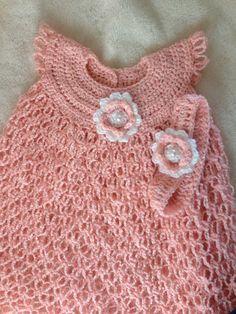 ON SALE, FINISHED - Baby Dress, crochet baby dress, Girls crochet dress. $28.99, via Etsy.