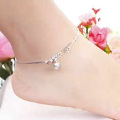Fashion Jewelry Plated Silver Anklet Solid Heart Pendant Anklets High Quality Ankle Bracelet Factory Price Free Shipping MDA002     Tag a friend who would love this!     FREE Shipping Worldwide     Get it here ---> http://jewelry-steals.com/products/fashion-jewelry-plated-silver-anklet-solid-heart-pendant-anklets-high-quality-ankle-bracelet-factory-price-free-shipping-mda002/    #style