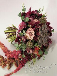 Свадебный букет в цвете марсала - Олеся Гавриш - свадебная флористика и декор