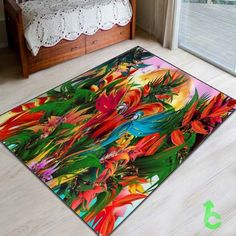 New Abstract Tropical Jungle Paradise Blanket