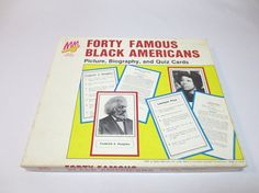 Forty Famous Black Americans / Picture by loftydreamsvintage