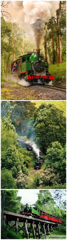 Something special to experience in Melbourne is a trip on Puffing Billy,  a century-old steam train still running on its original mountain track from Belgrave to Gembrook in the scenic Dandenong Ranges