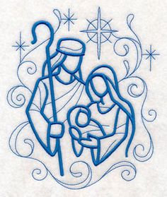 Nativity Towel - Christmas Towel - Holy Family - Embroidered Towel - Flour Sack Towel - Hand Towel - Bath Towel - Apron - Fingertip Towel by on Etsy Learn Embroidery, Hand Embroidery Patterns, Machine Embroidery Designs, Embroidery Needles, Geometric Embroidery, Embroidery Sampler, Embroidery Leaf, Vintage Embroidery, Christmas Drawing