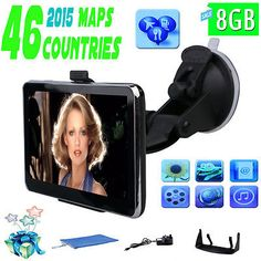 "5"" Car GPS Navigation Navigator SAT NAV 8GB Free Maps Update MP4 SpeedCam POI FM"