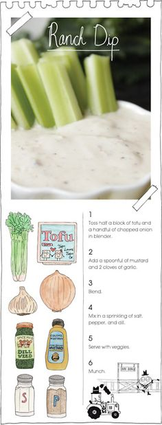 Afternoon Snack: Did You Know You Can Make Healthy Ranch Dip With ... Tofu?