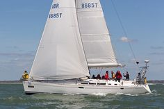 The Jeanneau Sun Odyssey 49 yacht 'Kotari' competing in the J.P. Morgan Asset Management Round the Island Race.