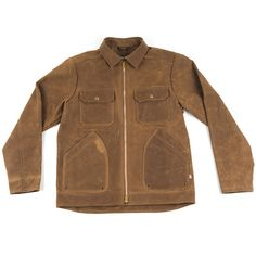 Motorcycle Jacket In Brown By West America X Woolrich, From Jane Motorcycles.