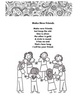 Comprehensive image regarding make new friends song printable