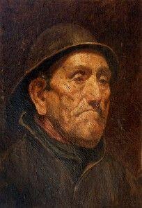 """Jan Zoetelief Tromp, 1872 †1947 Fisherman at town """"Katwijk"""" 1910."""
