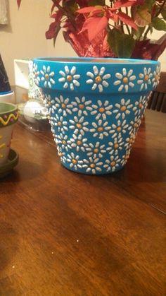 Flower Pot Art, Flower Pot Design, Flower Pot Crafts, Clay Pot Crafts, Paint Garden Pots, Painted Plant Pots, Painted Flower Pots, Decorated Flower Pots, Pottery Painting Designs