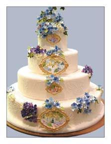Ann Amernick Wedding cake--she did my mom's 60th birthday cake