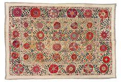 "Antique Suzani on OneKingsLane.com, wool, 100"" x 69"" $8299"