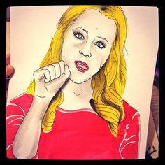Amy Schumer ART PRINT by Jamie Noggle on Etsy