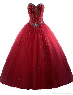 2016 Hign Quality Tulle Quinceanera Dresses Ball Gown Appliques Beaded Floor…