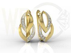 Kolczyki z żółtego złota z diamentami/ Yellow gold earrings with diamonds/ 2 394,99 PLN