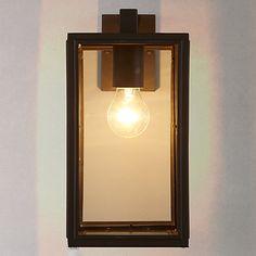 Buy John Lewis Louvre Outdoor Glass Lantern, Coffee Online at johnlewis.com
