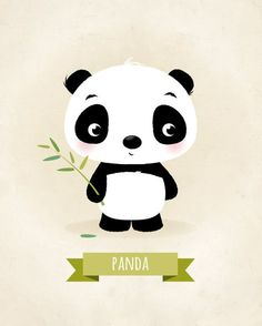 Nursery print Panda print children's by IreneGoughPrints on Etsy Panda Nursery, Baby Animal Nursery, Baby Nursery Decor, Nursery Prints, Nursery Wall Art, Niedlicher Panda, Cute Panda, Panda Kindergarten, Panda Mignon