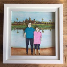 Special commission #weddingpresent backdrop of #Cambodia #angkorwat #weddinggift #wedding #couples #portraits #bespokeportrait #custommade #personalised #gifts #unique #uniquegifts #birthday #anniversary #paperanniversary #paperdoll #paperdollportraits