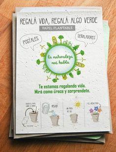 Papel Reciclado Plantable - Comprar en Algo Verde Why Try, Mini Farm, Classroom Projects, Ideas Para Fiestas, Growing Plants, Indoor Garden, Slogan, Packaging Design, Cactus